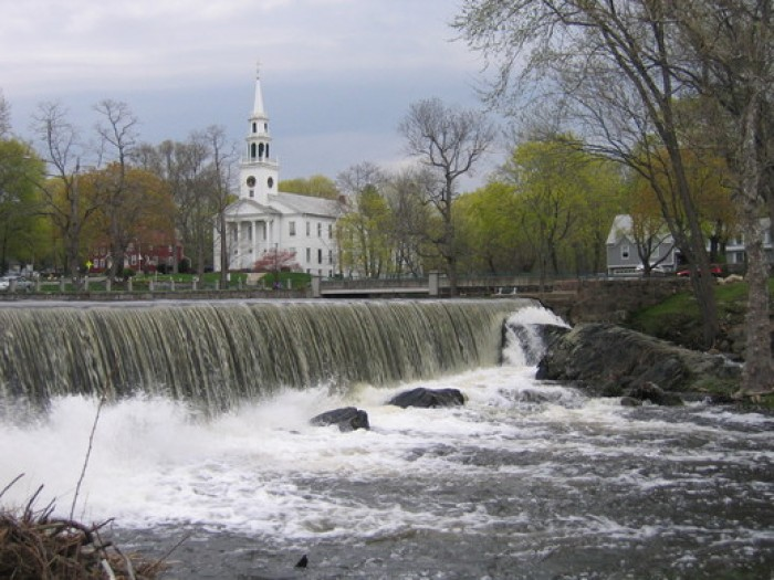falls and a view of the church - MIlford
