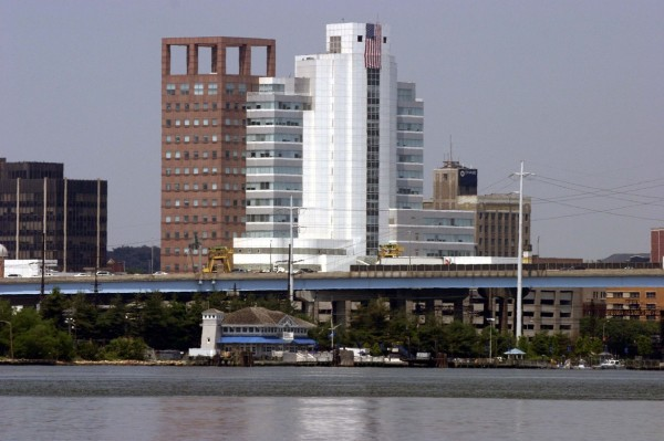 Bridgeport big buildings and a bridge