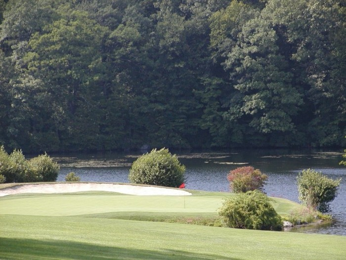 golf course by the lake - Danbury