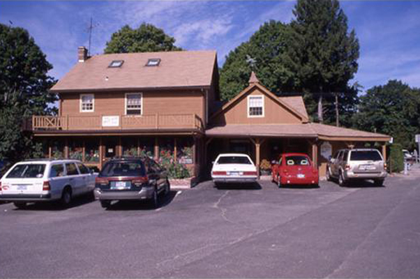 Easton House with cars park