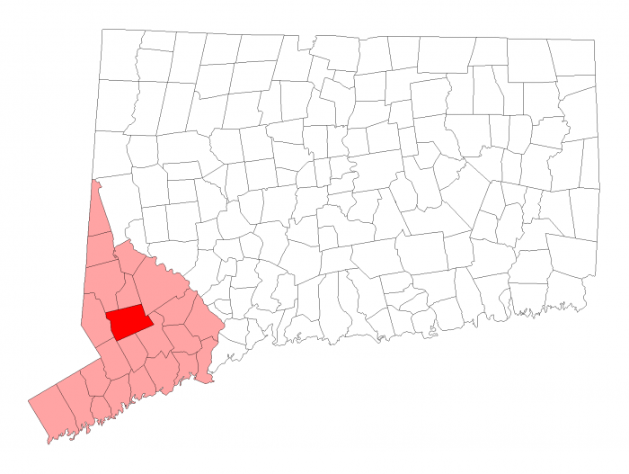 Redding Town map , Fairfield County Connecticut