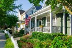 White Picket fence with USA flag